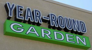 Custom lit metal channel letters for Year Round Garden in Olathe